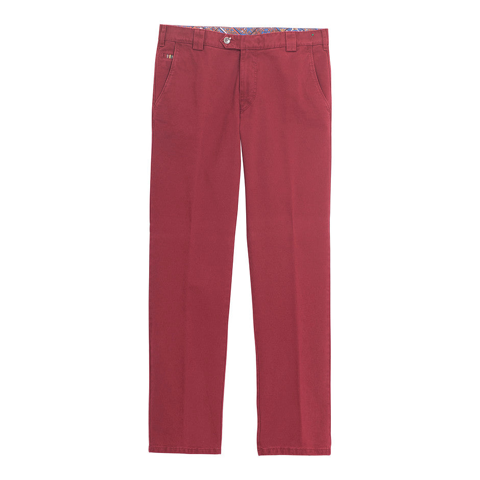 Roma Dream Finish Chinos for Men in Deep Red