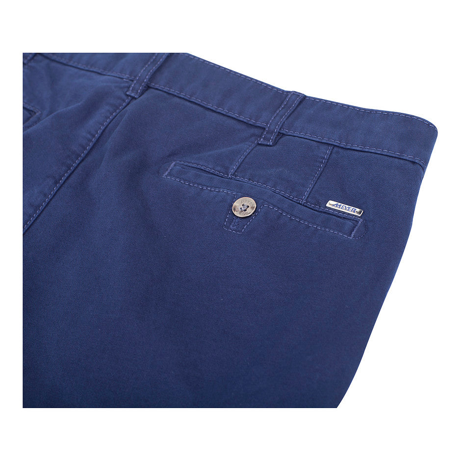 Roma Dream Finish Chinos for Men in Royal Blue