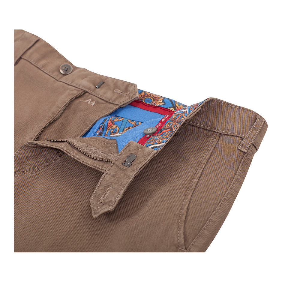 Roma Dream Finish Chinos for Men in Tan