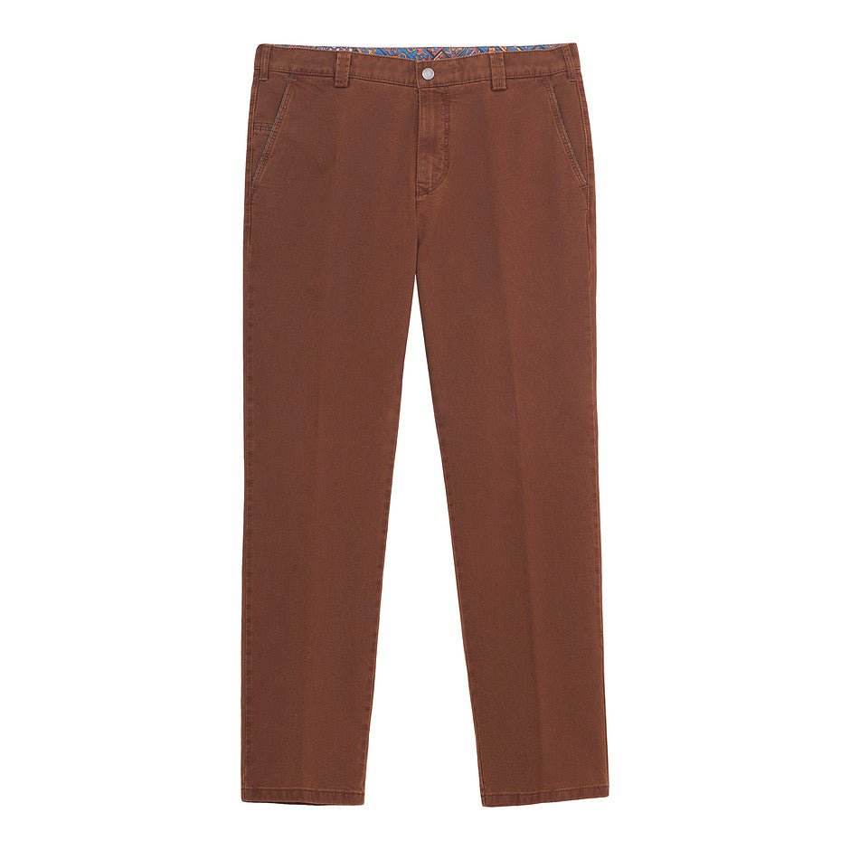 New York Double Dyed Chino for Men in Burnt