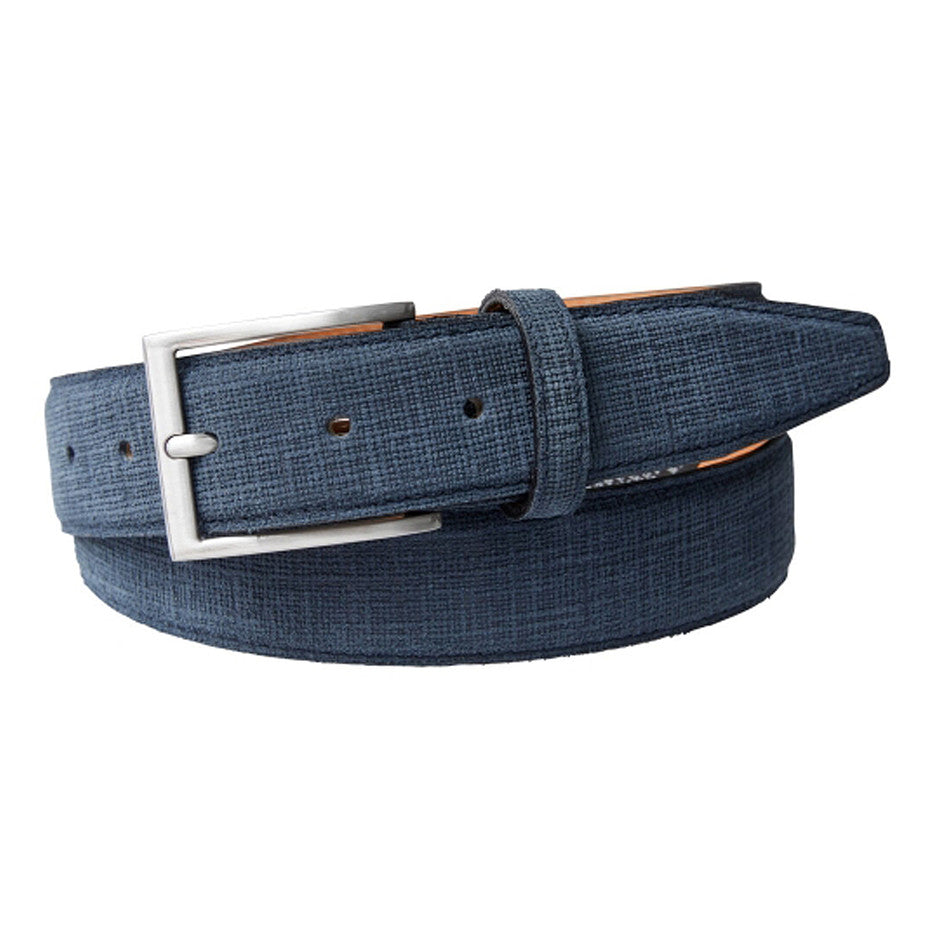 Suede Belt for Men in Navy