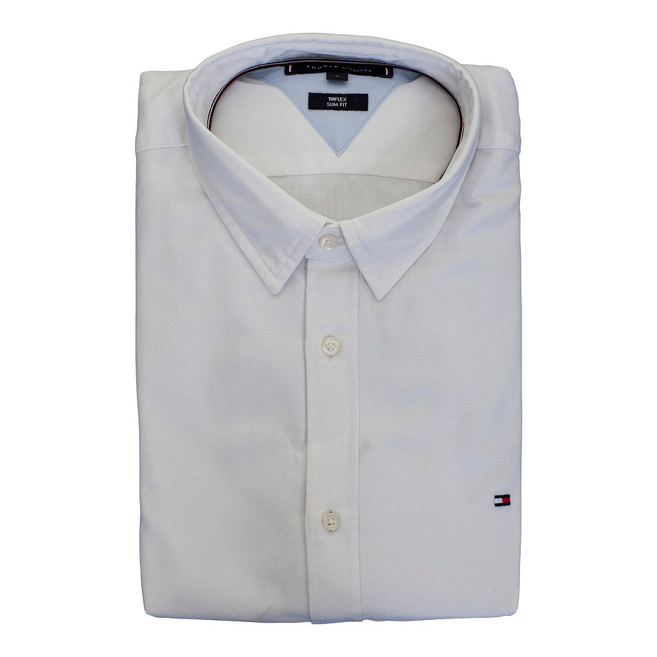 Slim 4 Way Stretch Shirt for Men in White