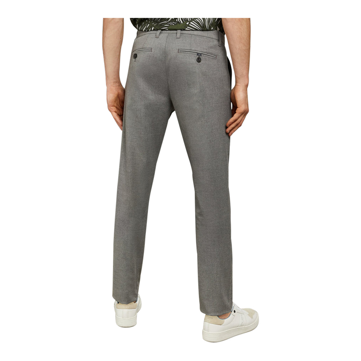 SEYII Slim Fit Trousers for Men in Grey