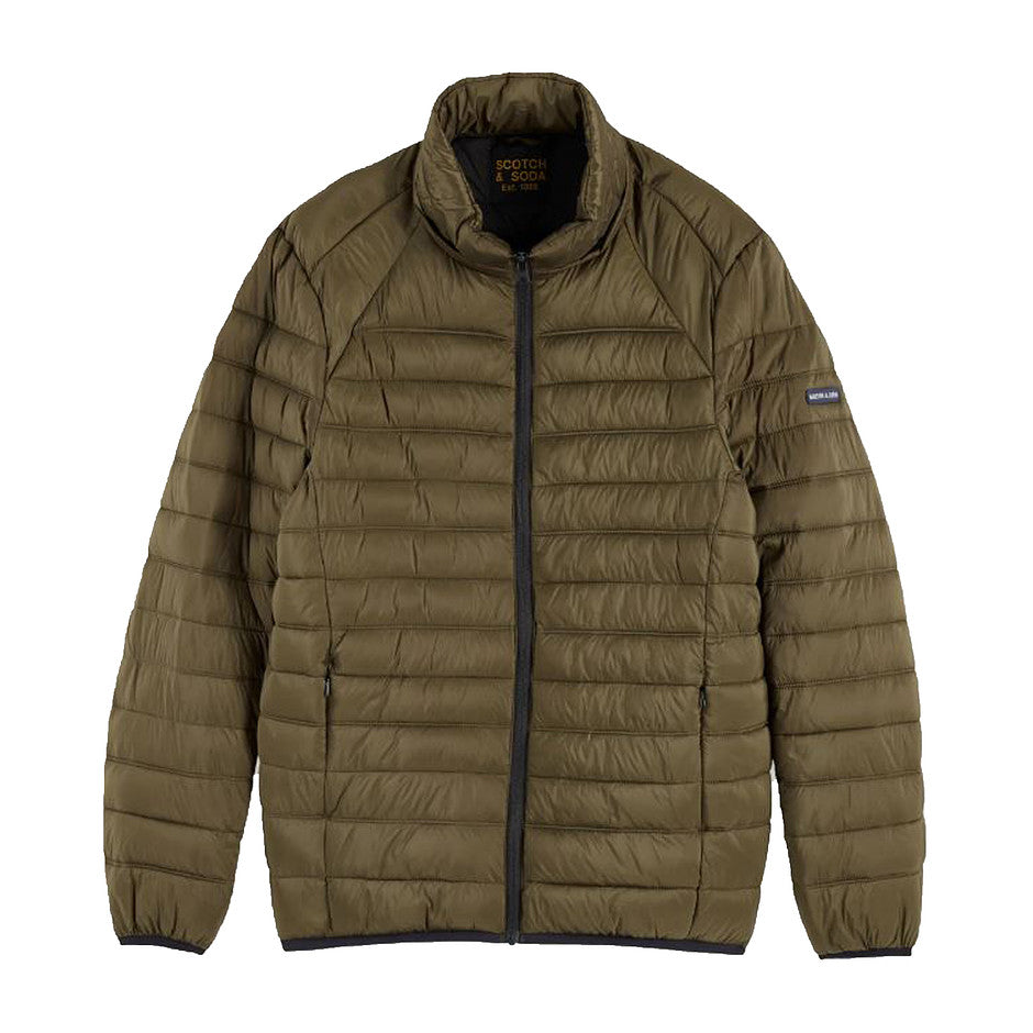 Puffer Jacket for Men in Military Green
