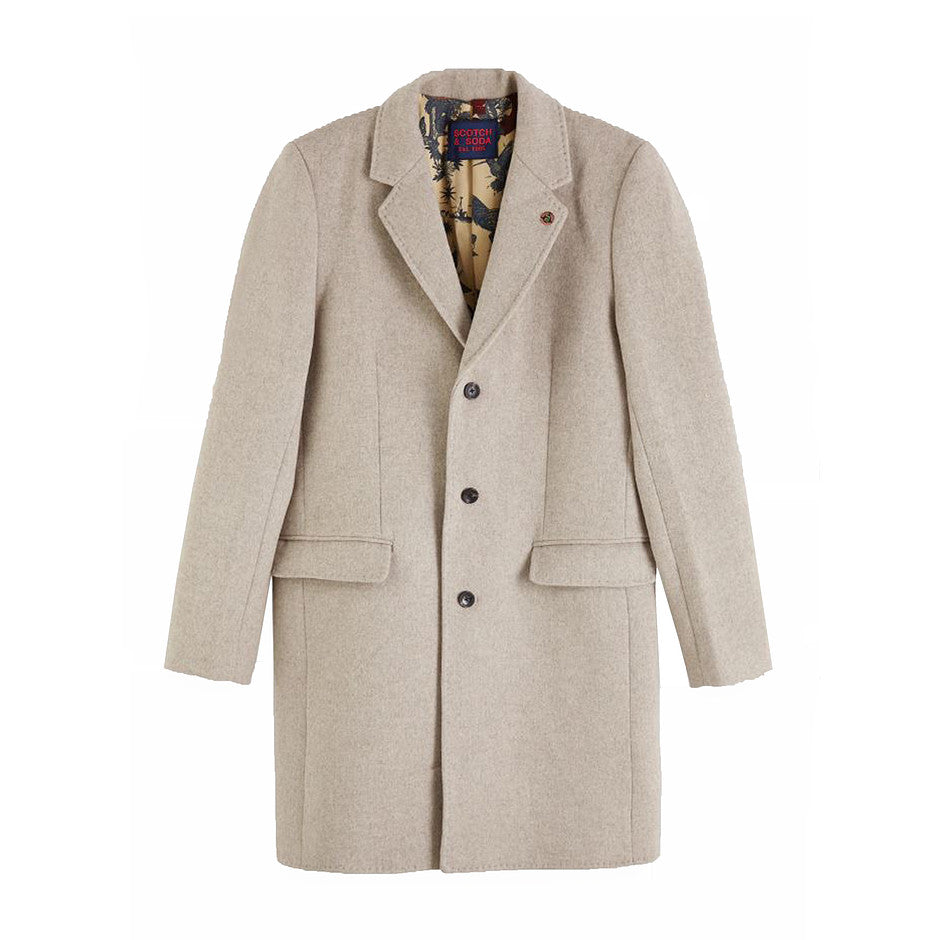 Classic Coat for Men in Sand Melange
