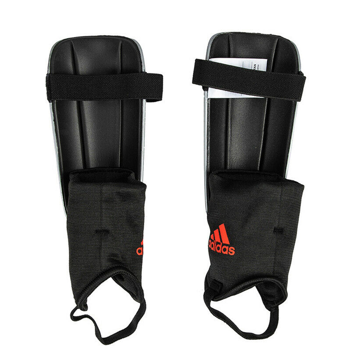 X Club Shinguards for Men in Silver & Red