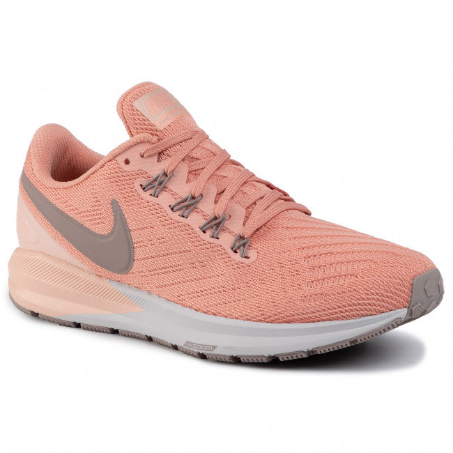 Air Zoom Structure 22 Running Shoe for Women in Pink Quartz/Pumice-Washed Coral