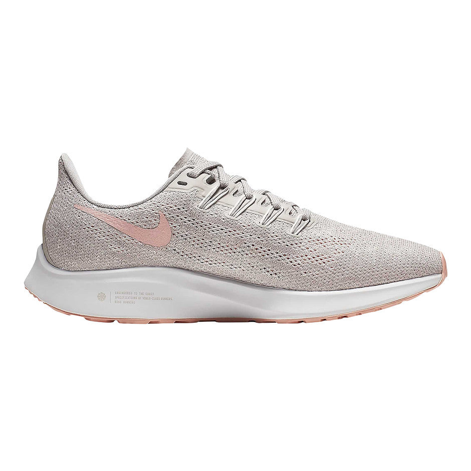 Air Zoom Pegasus 36 Running Shoes for Women in Pumice/Vast Grey/Celestial Gold/Pink Quartz