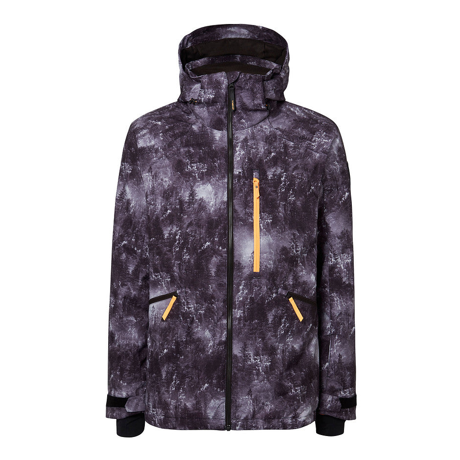 Diabase Ski Jacket for Men in Black AOP