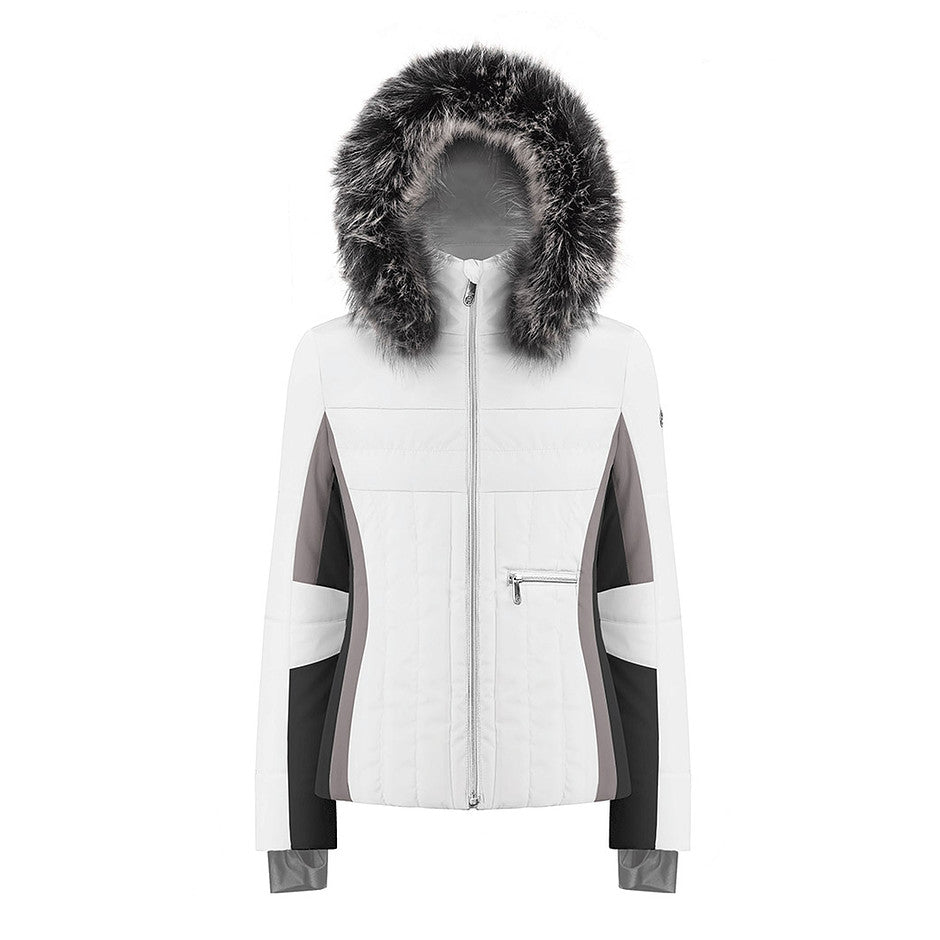 W19 1002 WO/A Ski Jacket for Women in White/ Multico