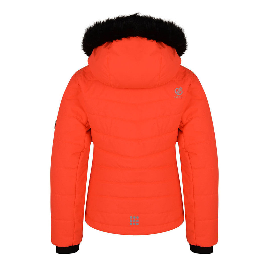 Predate Ski Jacket for Kids in Fiery Coral