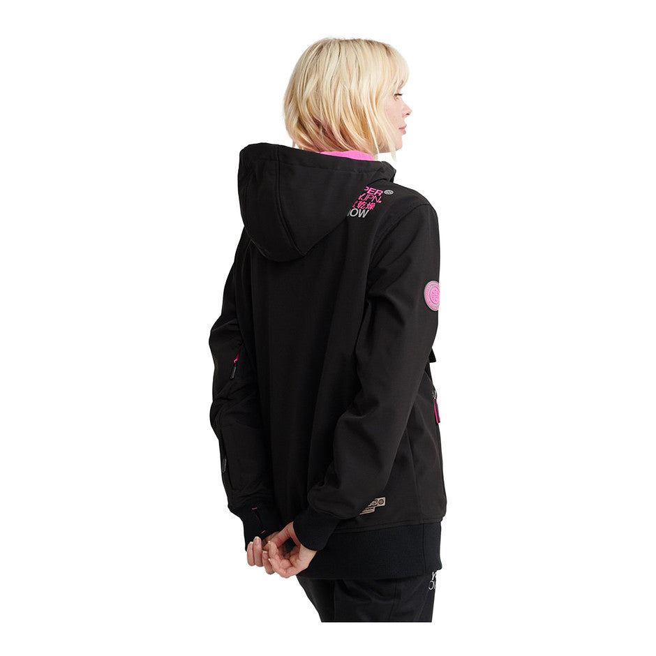Snow Tech Half Zip Jacket for Women in Flat Black