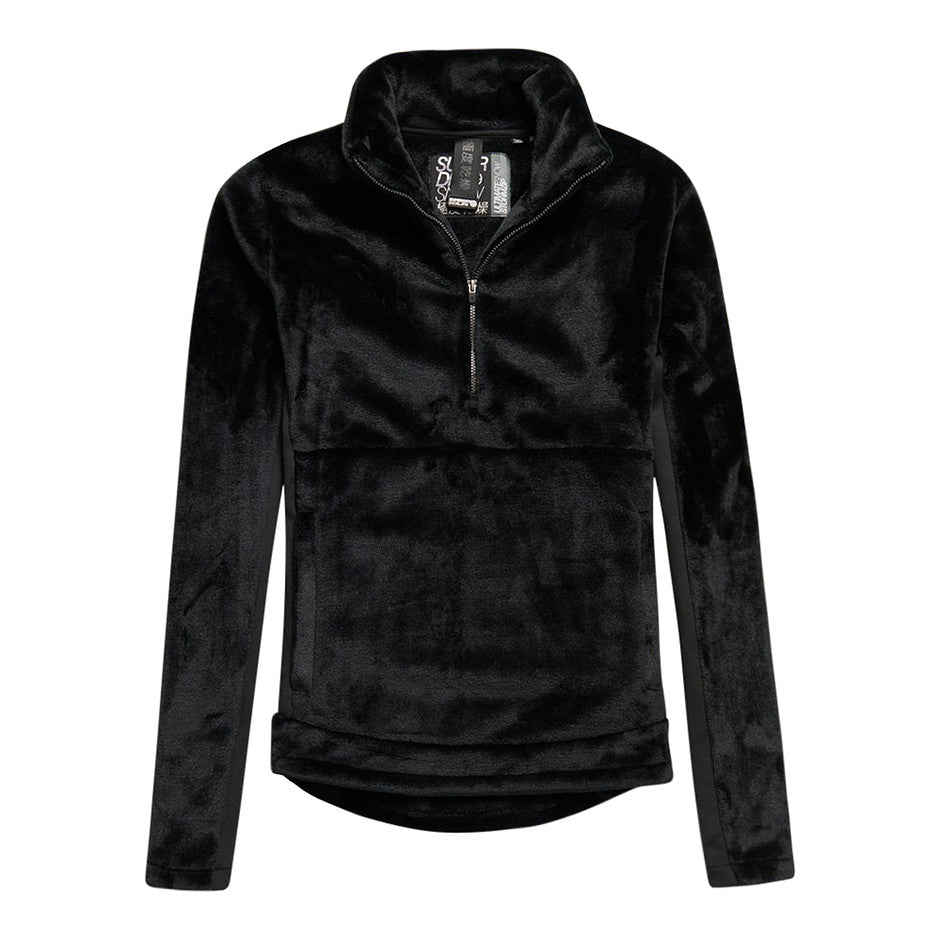 Storm Fleece Mid-layer Half Zip for Women in Onyx Black