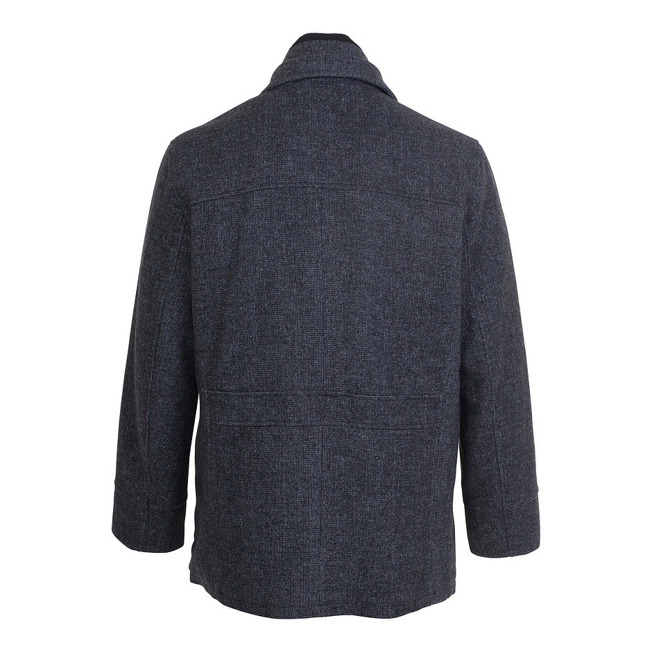 Wool Car Coat for Men in Grey