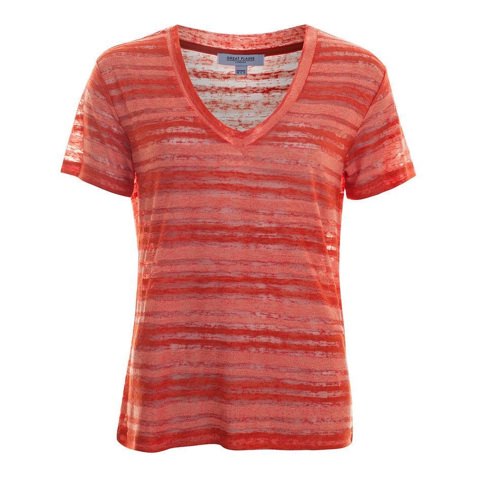 Camilla Burnout T-shirt for Women in Coral