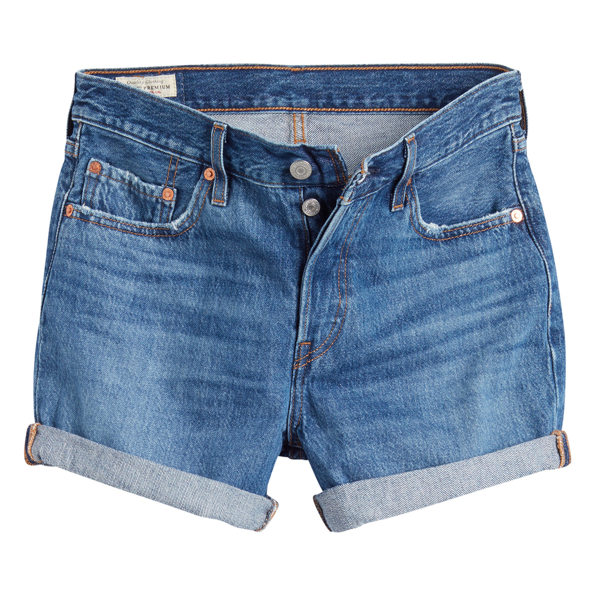 501 Short for Women in Indigo
