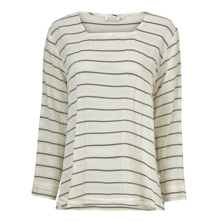 Daryna Stripe Top for Women in Olive Stripe