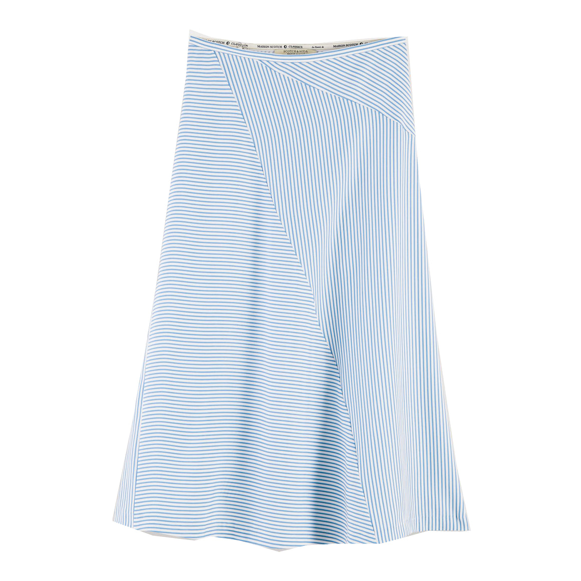 Stripe Long Skirt for Women in Blue