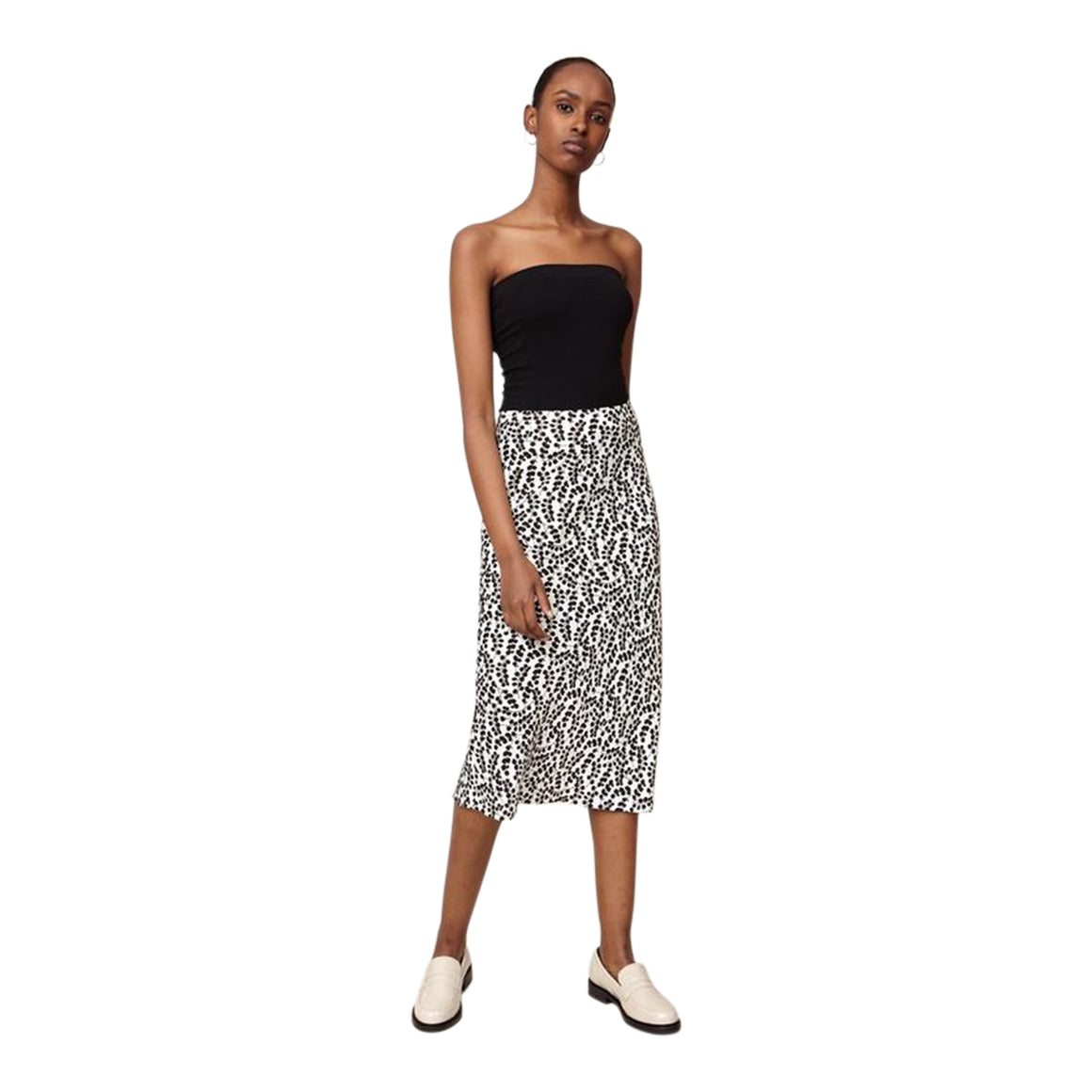 Eucalyptus Print Skirt for Women in Black & White