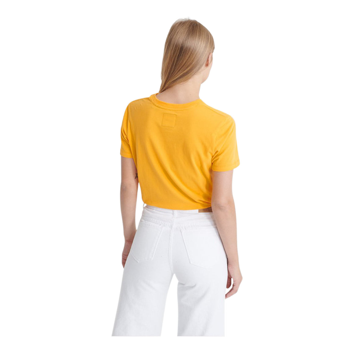 Flock Entry Tee for Women in Yellow