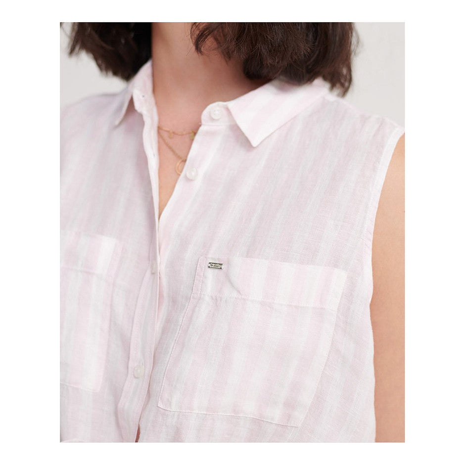 Aubery Sleeveless Shirt for Women in Pink