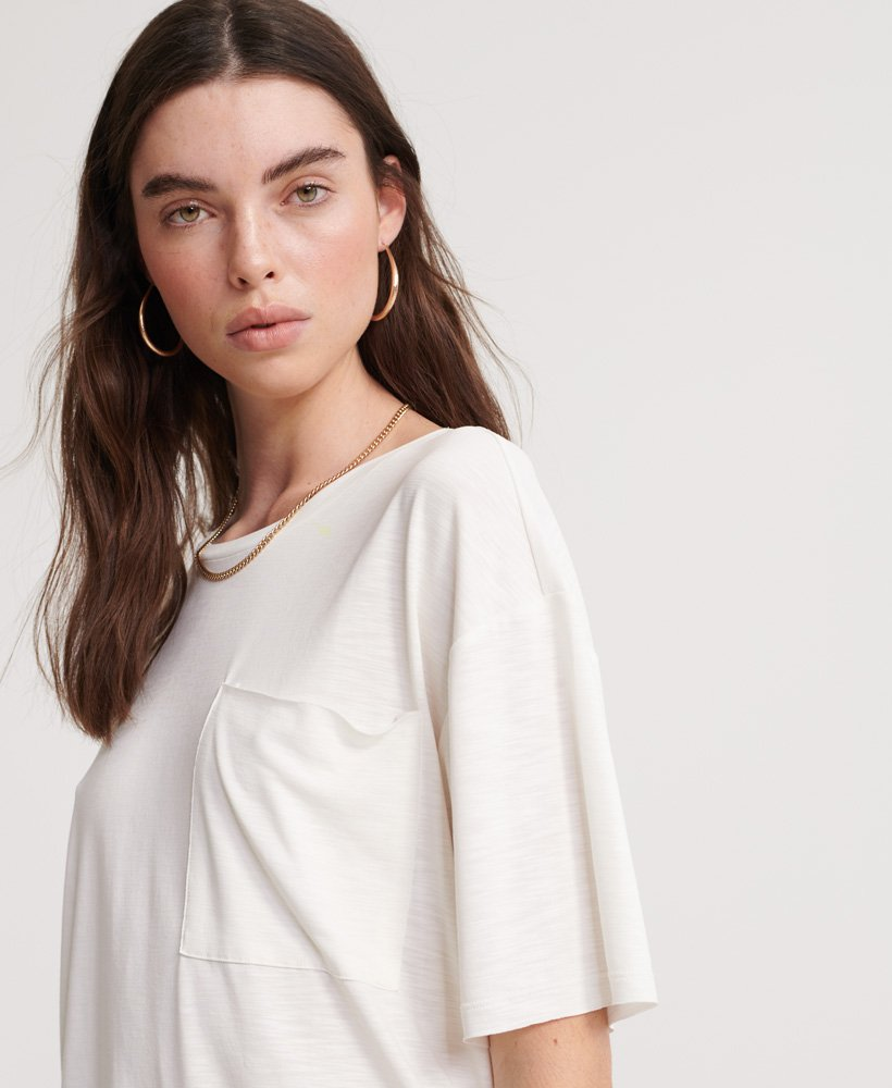 Canyon Pocket Tee for Women in Ivory