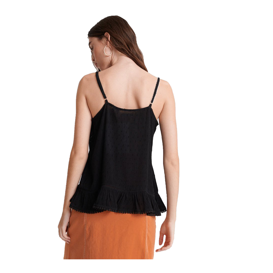 Summer Lace Cami for Women in Black