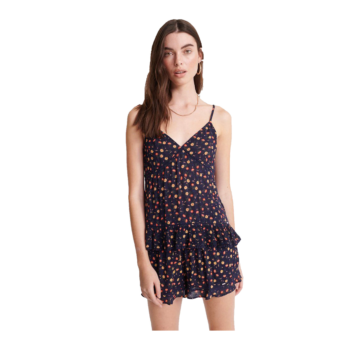 Summer Floral Cami for Women in Navy