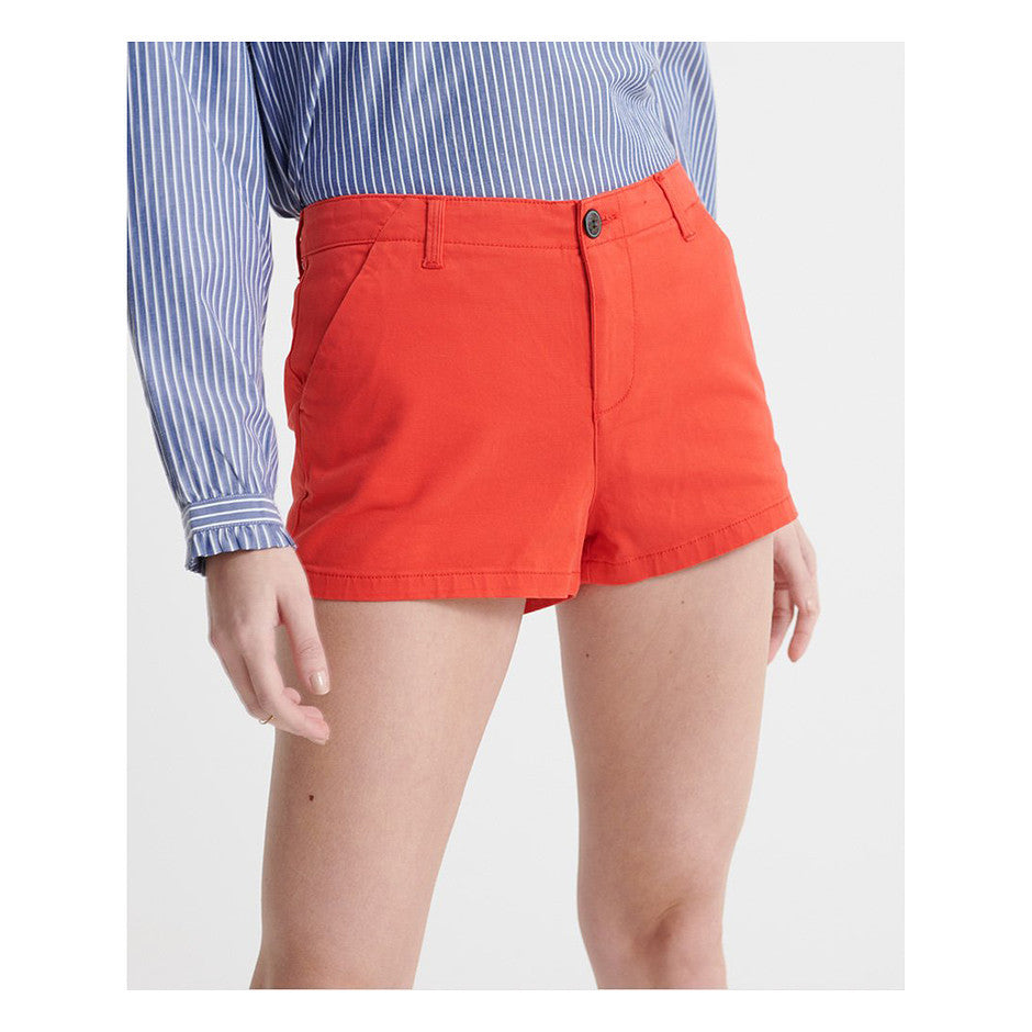 City Hot Shorts for Women in Apple Red