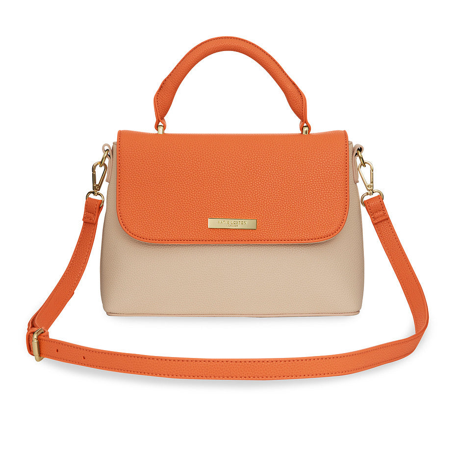 Talia Two Tone Messenger Bag for Women in Burnt Orange