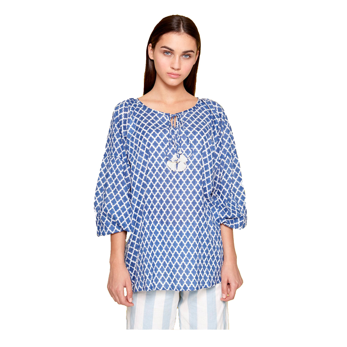 Kaftan Shirt for Women in Navy