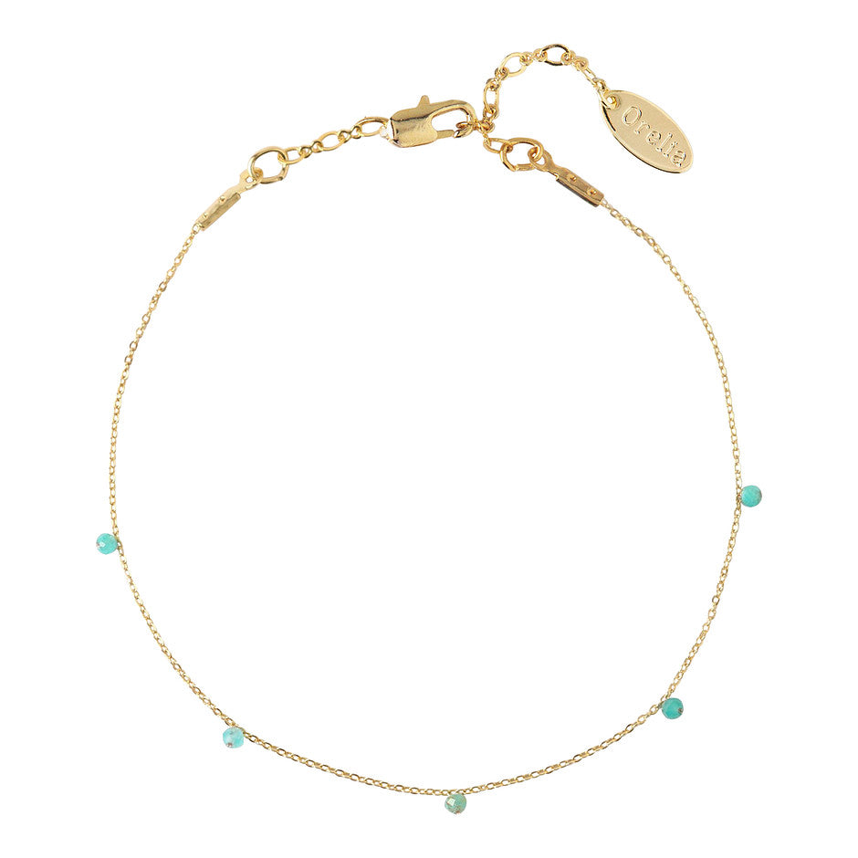 Stone Drop Bracelet for Women in Blue