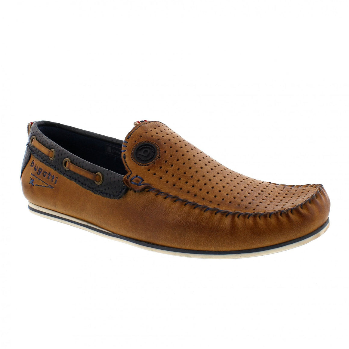 Cherokee 2 Shoes for Men in Navy/Tan Leather