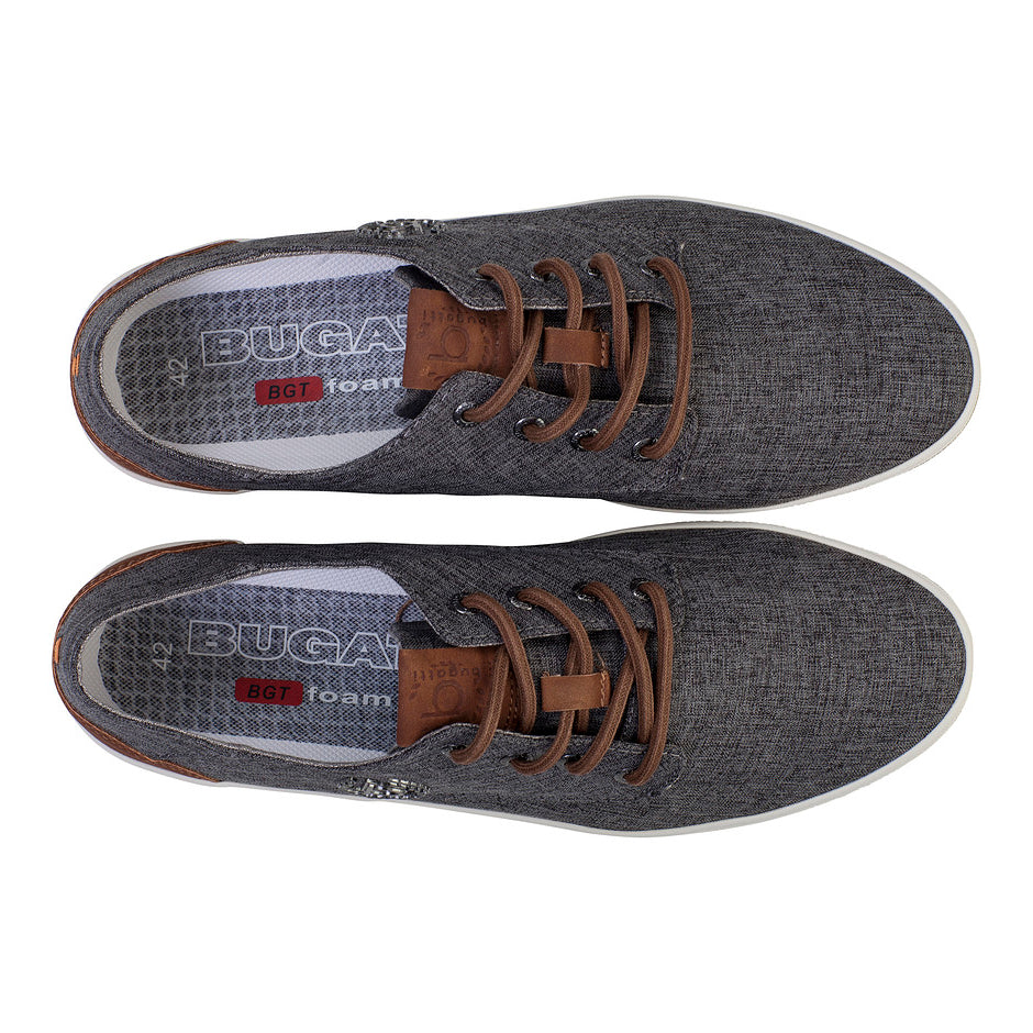LACE-UP SHOES FOR MEN IN DARK GREY
