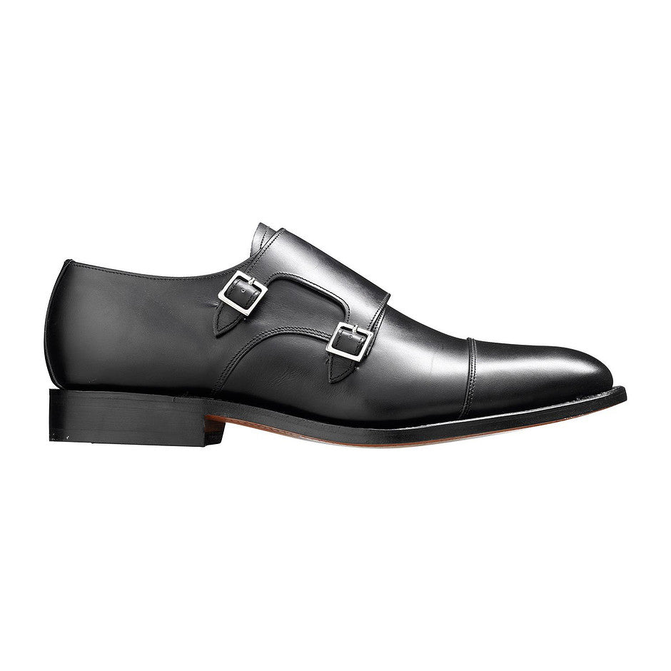 Tunstall Monk Shoe for Men in Black