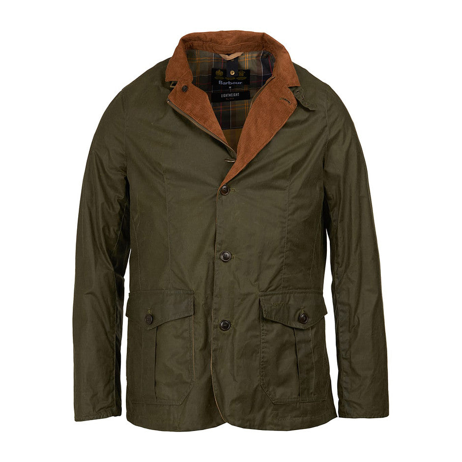Lightweight Sander Waxed Jacket for Men in Archive Olive