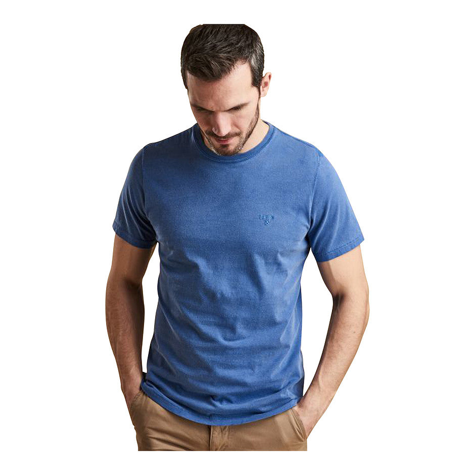 Garment Dyed Tee for Men in Blue