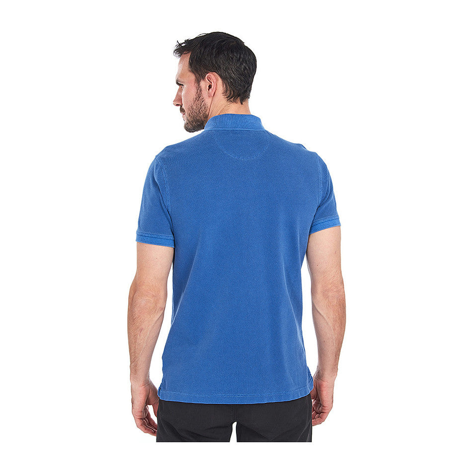 Washed Sports Polo for Men in Blue