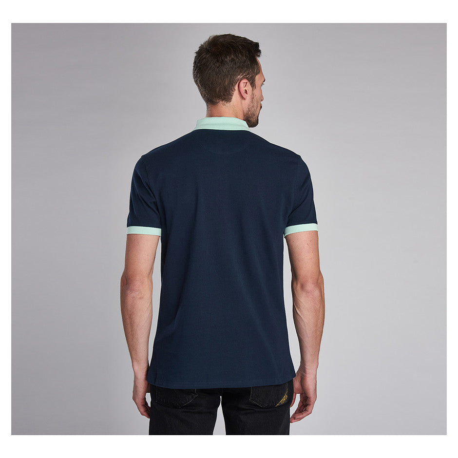 Contrast Polo for Men in Navy