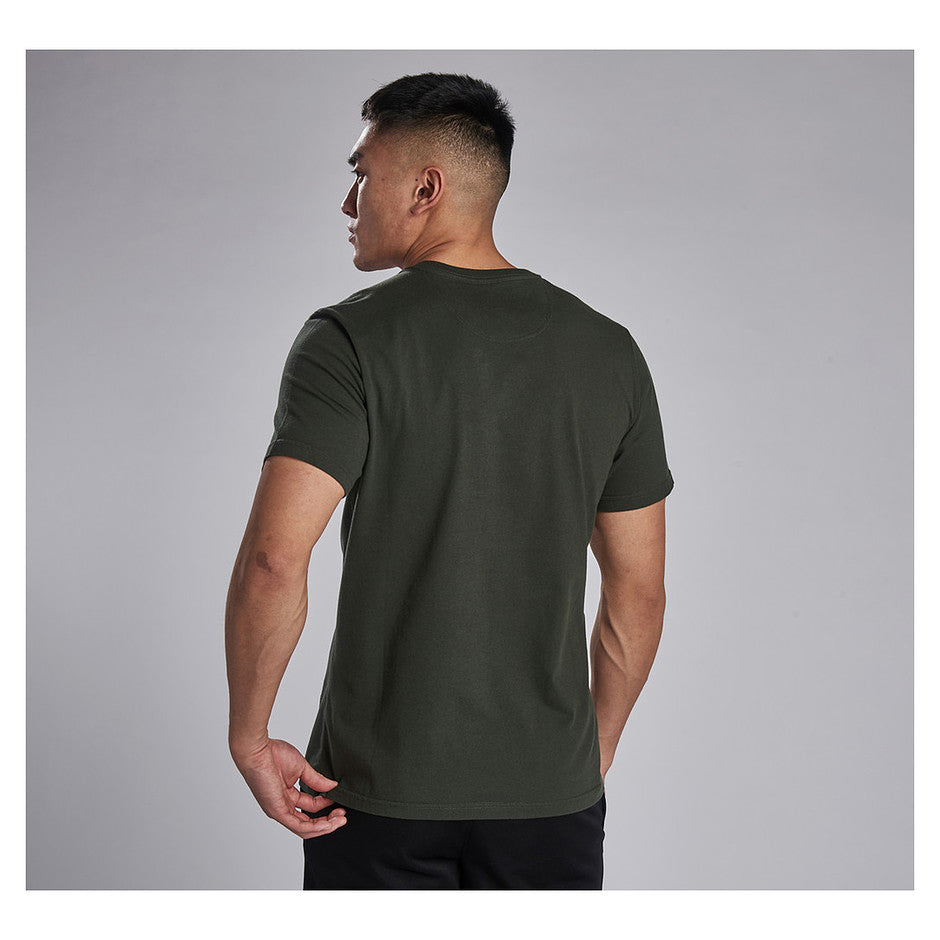 Essential Large Logo Tee for Men in Olive