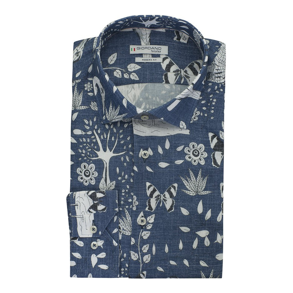 Menagerie Shirt for Men in Blue