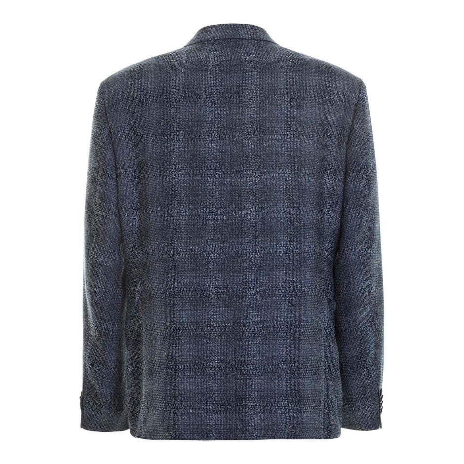 Edison Shadow Check Blazer for Men in Blue