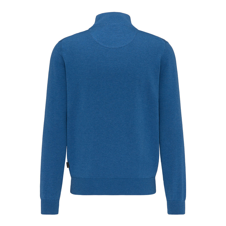 1/4 Zip Superfine Cotton Knit for Men in Royal