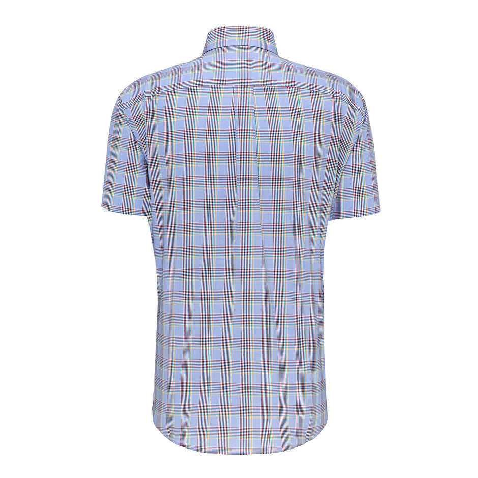 Maritime Story Short Sleeve Shirt for Men in Blue