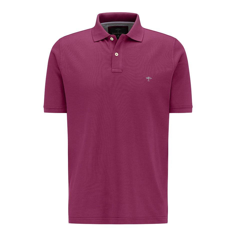 Supima Cotton Polo for Men in Mulberry