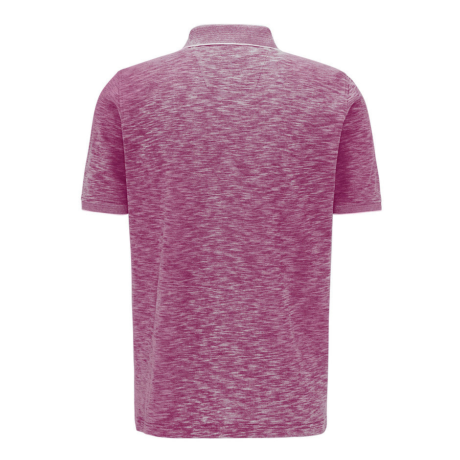 Two Tone Polo for Men in Fuchsia