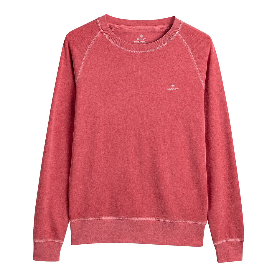 Sunfaded C-Neck Sweat for Men in Coral