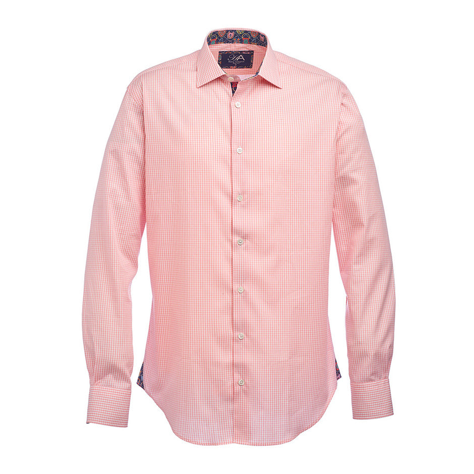 Gingham Shirt for Men in Pink
