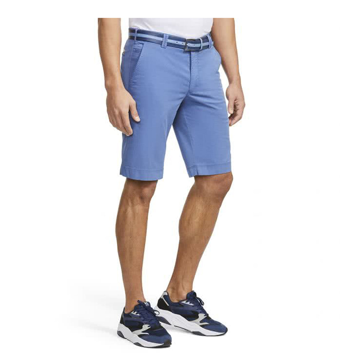 B-Palma Cotton Twill Short  for Men in Blue