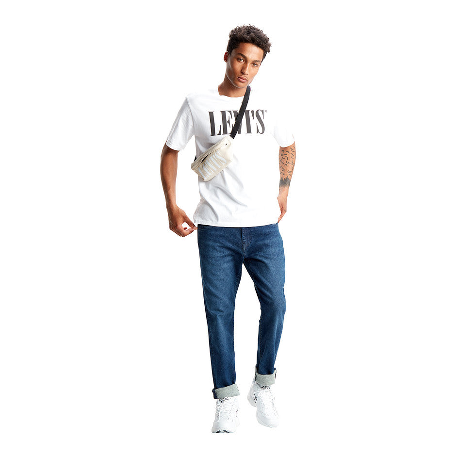 Relaxed Graphic Tee for Men in White